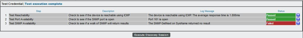 Troubleshooting SNMP Discovery Sessions